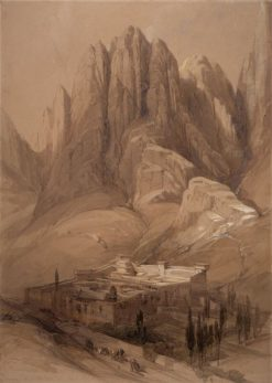 St Katherine's Monastery with Mount Horeb | David Roberts | Oil Painting