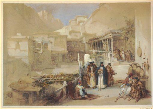 Monastery of St Katherine on Mount Sinai   David Roberts   Oil Painting