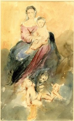 Virgin and Child on Clouds