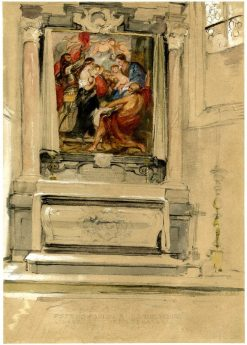 Rubens' Tomb and Altarpiece in the Sint-Jacobskerk in Antwerp | David Wilkie | Oil Painting