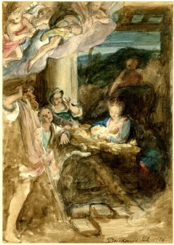 The Adoration of the Shepherds known as 'La Notte' (after Correggio) | David Wilkie | Oil Painting