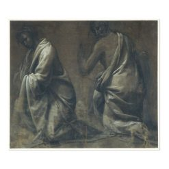 Drapery Study of Two Kneeling Figures | Fra Bartolomeo | Oil Painting