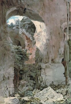 Arch and Debris in a Ruin on the Palatine | Francis Towne | Oil Painting