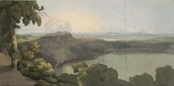 Lake Albano with Castel Gandolfo | Francis Towne | Oil Painting