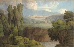 A Distant View of Tivoli | Francis Towne | Oil Painting