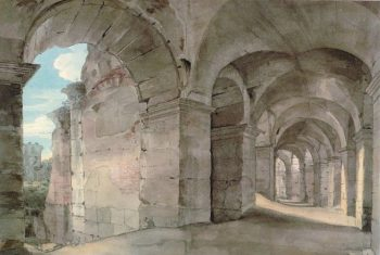 A Gallery of the Colosseum   Francis Towne   Oil Painting