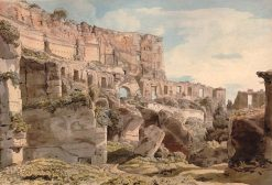 Inside the Colosseum | Francis Towne | Oil Painting