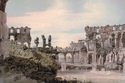 Inside of the Colosseum from the Emperor's seat   Francis Towne   Oil Painting