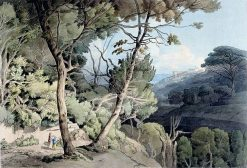 Near Naples   Francis Towne   Oil Painting