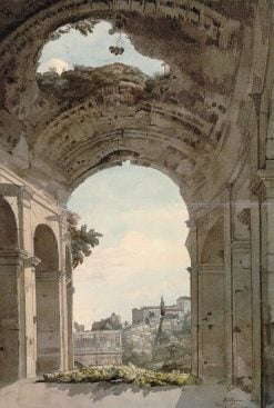 View under an Arch of the Colosseum | Francis Towne | Oil Painting