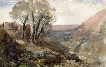 Tivoli: View of the Valley from the Hillside | Hercules Brabazon Brabazon | Oil Painting