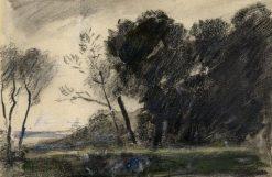 Woodland scene after Henri Joseph Harpignies | Hercules Brabazon Brabazon | Oil Painting