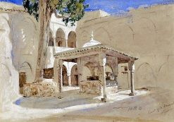 Court of a Mosque in Algers | Hercules Brabazon Brabazon | Oil Painting