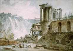 Tivoli; Ruined Circular Colonnaded Temple | Hubert Robert | Oil Painting