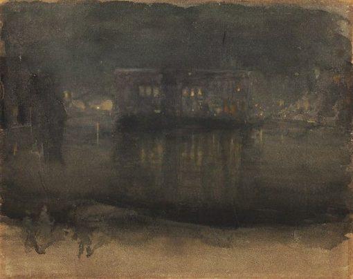 Amsterdam nocturne | James Abbott McNeill Whistler | Oil Painting