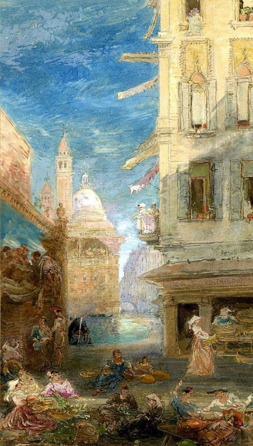 The corner of a Piazza   James Holland   Oil Painting