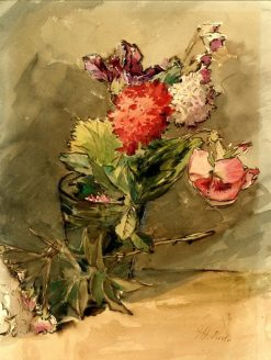 Group of flowers   James Holland   Oil Painting