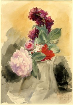 Study of flowers | James Holland | Oil Painting
