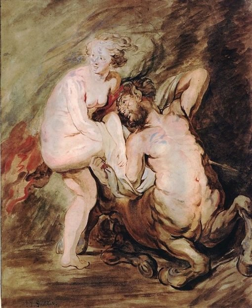 Nessus and Deianeira (after Rubens) | Jean HonorE Fragonard | Oil Painting
