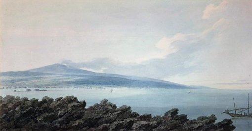Mount Etna from a rock of lava near Catania | John Robert Cozens | Oil Painting