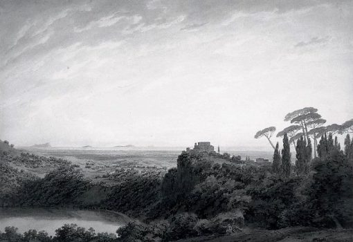 Lake Nemi   John Robert Cozens   Oil Painting
