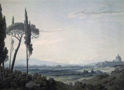 Rome from the Villa Mellini | John Robert Cozens | Oil Painting