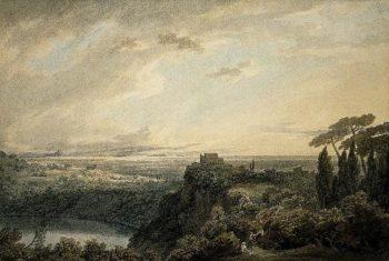 The lake of Nemi   John Robert Cozens   Oil Painting