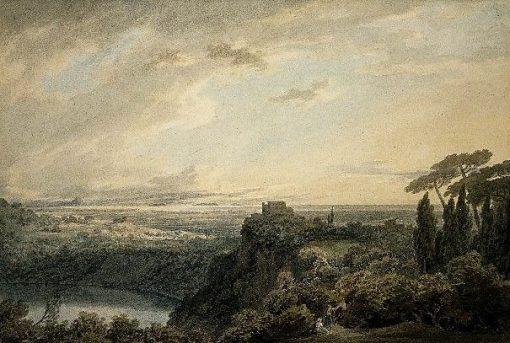 The lake of Nemi | John Robert Cozens | Oil Painting