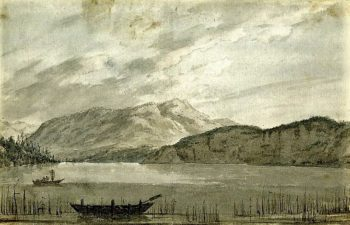 Lake of Lucerne; looking towards the Bay of Weggis   John Robert Cozens   Oil Painting