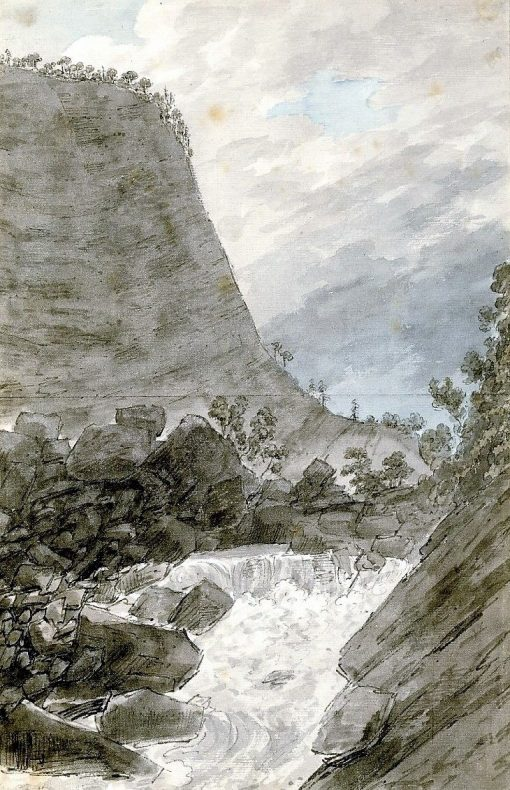 Near the Valley of Ober-hasli | John Robert Cozens | Oil Painting