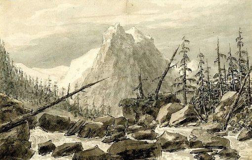First view of the Reichenbach between Grindelwald and the Vale of Ober-Hasli | John Robert Cozens | Oil Painting