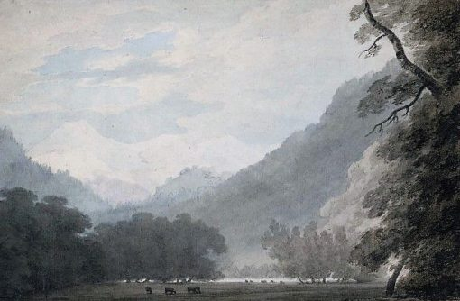 Interlaken from the Road between the Lake of Thun and Unterseen | John Robert Cozens | Oil Painting