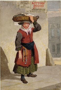 A Yarmouth Fish-girl | John Sell Cotman | Oil Painting