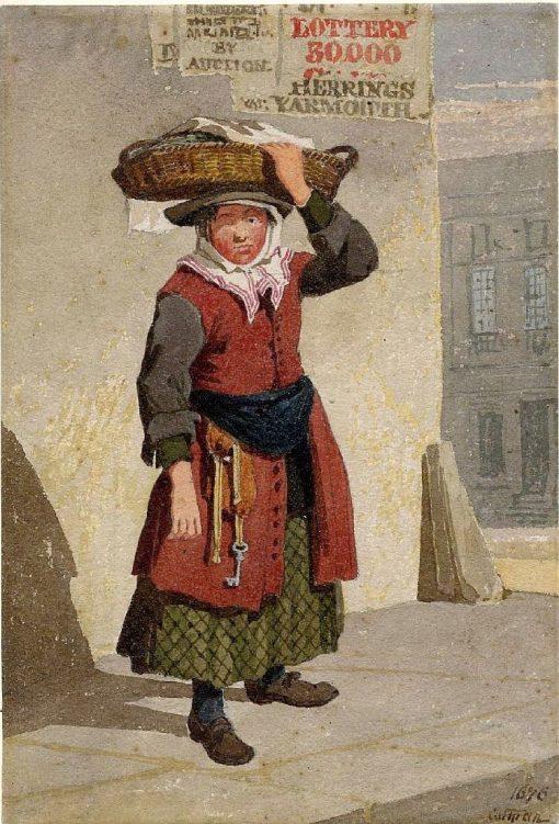 A Yarmouth Fish-girl | John Sell Cotman | Oil Painting