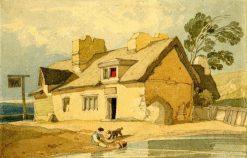 Old inn in Suffolk | John Sell Cotman | Oil Painting