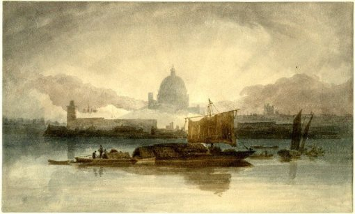 Morning effect on the Thames near St Paul's | John Sell Cotman | Oil Painting