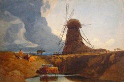 Pumping Mill beside a Dyke