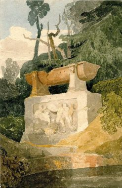 Sarcophagus in a Pleasure Garden | John Sell Cotman | Oil Painting