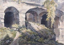 Details of Stonework in the Colosseum | John Warwick Smith | Oil Painting