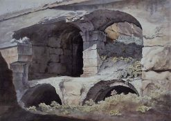 Detail of Stonework in the Colosseum | John Warwick Smith | Oil Painting