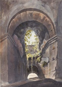 View through an Arch in the Colosseum | John Warwick Smith | Oil Painting