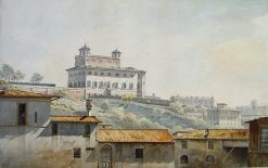 Villa Medici from S Anastasio | John Warwick Smith | Oil Painting