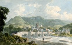View of Llangollen and Bridge | John Warwick Smith | Oil Painting