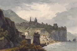 Vietri; View of the Town on its Cliff | John Warwick Smith | Oil Painting