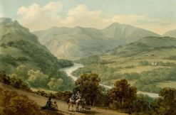 Course of the River Dee between Llangollen and Corwen | John Warwick Smith | Oil Painting