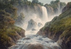 Cascade of Terni | John Warwick Smith | Oil Painting