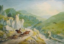 The Hon Robert Fulke Greville's Phaeton Crossing the Mountains | Julius Caesar Ibbetson | Oil Painting