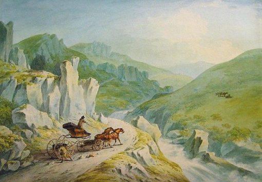 The Hon Robert Fulke Greville's Phaeton Crossing the Mountains | Julius Caesar Ibbetson | Oil Painting