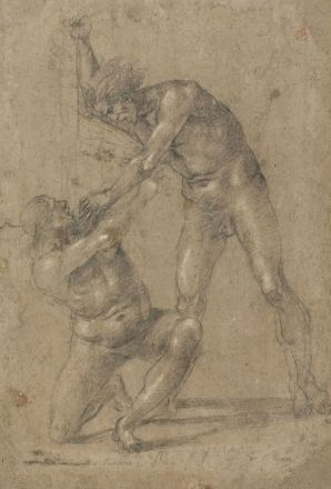 A Demon and One of the Damned   Luca Signorelli   Oil Painting