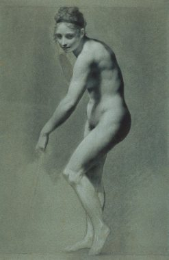 Standing Female Nude | Pierre Paul Prud'hon | Oil Painting